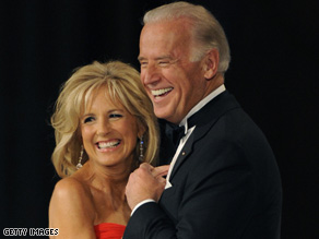 Newly elected VP Biden dancing at the 2009 Inaugural Ball